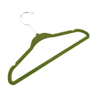 Green 100 pieces Velvet Flocking Non-Slip Hanger Clothes Stand Hanger For Baby Clothes