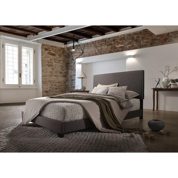 Emma Brown Linen Upholstered Bed. Opens flyout.