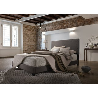Emma Brown Linen Upholstered Bed