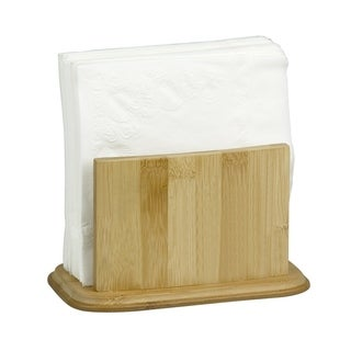 "Sweet Home Collection Bamboo Napkin Holder (7.5""x4""x4.5"")"