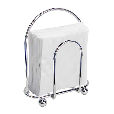 """Sweet Home Collection Chrome Napkin Holder (4""""x7""""x8"""")"""