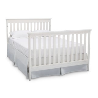 Delta Children Greyson Signature 4-in-1 Convertible Crib, Grey (Option: Off-White Finish)