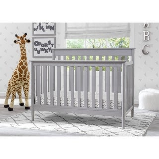 Delta Children Greyson Signature 4-in-1 Convertible Crib, Grey