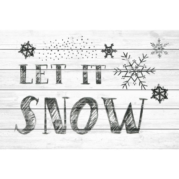 Marmont Hill - Handmade Let It Snow III Painting Print on White Wood