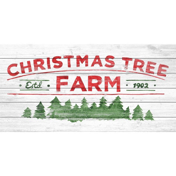 Marmont Hill - Handmade Arboles De Navidad II Painting Print on White Wood