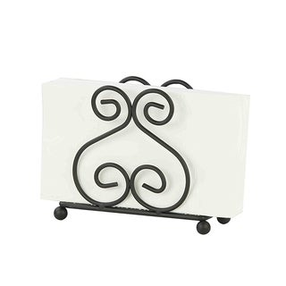 "Sweet Home Collection Scroll Collection Bronze Napkin Holder (4.5""x6""x1.75"")"
