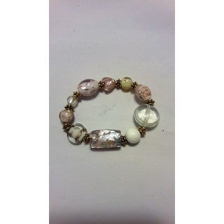 Handmade Artisan Glass Beaded Bracelet (United States)
