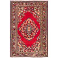 eCarpetGallery Mahal Red Wool Hand-knotted Rug - 3'11 x 6'2