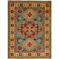 eCarpetGallery Multicolored Wool/Cotton Hand-knotted Finest Gazni Rug - 2'10 x 3'10