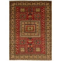 eCarpetGallery Hand-knotted Finest Gazni Red Wool Rug - 5'10 x 8'7