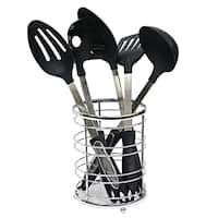 Sweet Home Collection Flatwire Rust Resistant Chrome Cutlery Holder
