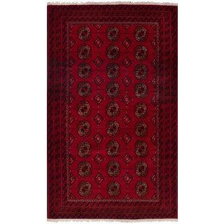 eCarpetGallery Hand-knotted Persian Vintage Red Wool Rug - 3'9 x 6'6
