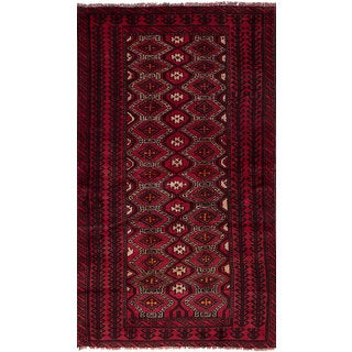 eCarpetGallery Persian Vintage Red Hand-knotted Wool Rug (3'9 x 7'2)