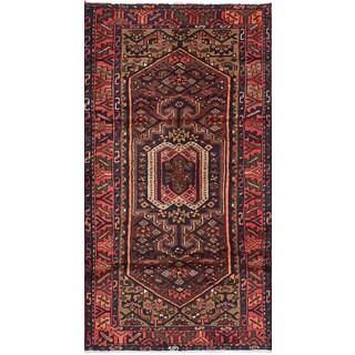 eCarpetGallery Hamadan Brown Wool Hand-knotted Rug (3'3 x 6'7)