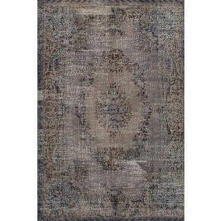 eCarpetGallery Color Transition Grey Hand-knotted Wool Rug (6'5 x 10'11)