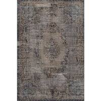 eCarpetGallery Color Transition Grey Hand-knotted Wool Rug - 6'5 x 10'11
