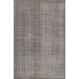 eCarpetGallery Color Transition Grey Wool Hand-knotted Rug (5'3 x 8'0)