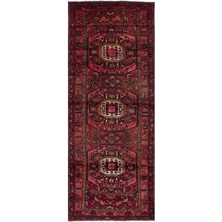 eCarpetGallery Koliai Red Wool/Cotton Hand-knotted Traditional Runner Rug (3'8 x 10')