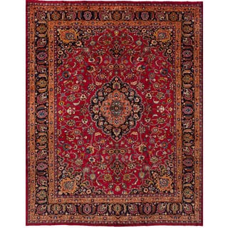 eCarpetGallery Hand-Knotted Mashad Red Wool Rug (8'2 x 10'11)|https://ak1.ostkcdn.com/images/products/17137798/P23403782.jpg?impolicy=medium