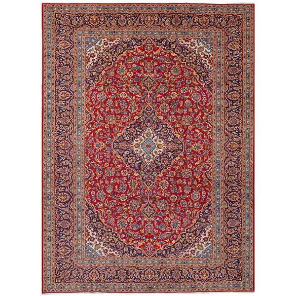 Shop Ecarpetgallery Hand Knotted Persian Kashan Red Wool: Shop ECarpetGallery Kashan Red Wool Hand-knotted Rug (8'1