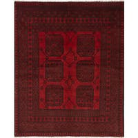 eCarpetGallery Hand-knotted Khal Mohammadi Red Wool Rug (5'3 x 6'9)