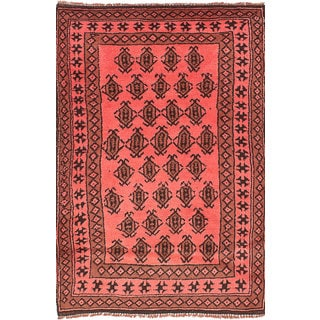 eCarpetGallery Color Transition Pink Wool Hand-knotted Rug (3' x 4'10)