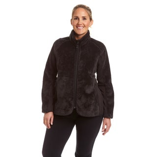 Champion Women's Plus Lux Faux Fur Sherpa Hybrid Jacket