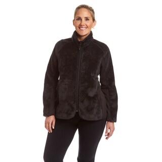 Champion Women's Plus Lux Faux Fur Sherpa Hybrid Jacket
