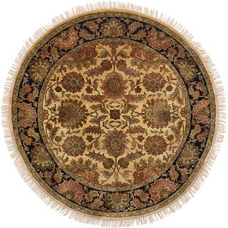 eCarpetGallery Hand-knotted Sultanabad Ivory Wool Rug (6' Round)