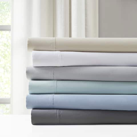 Madison Park 1500 Thread Count Luxury Cotton Blend Solid Pillowcases (Set of 2)