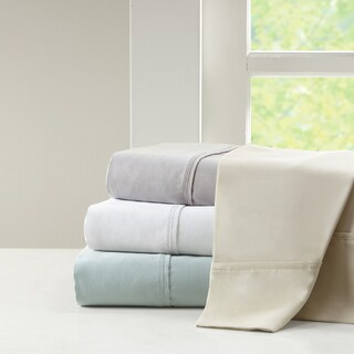 Madison Park 1500 Thread Count Luxury Cotton Blend Solid Pillowcases (Set of 2) - 4 Color Option