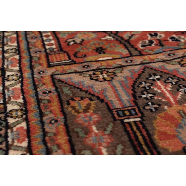 Brown Hand Knotted Wool Rug