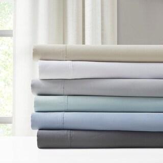 Madison Park 1500 Thread Count Luxury Cotton Blend Solid Sheet Set 4 Color Option
