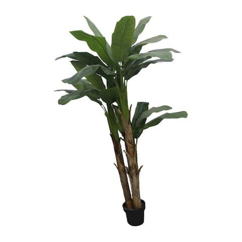 Jeco Banana Leaf 90-inch Faux Tree