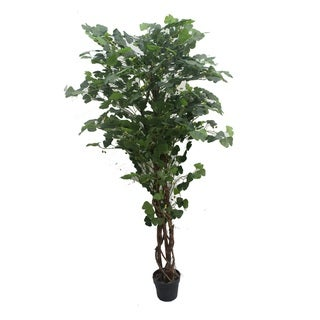 Jeco 70-inch Artificial Silk Potted Ginkgo Tree