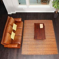 Bali Chestnut 8X10 Woven Natural Bamboo & Rattan Area Rug - 8' x 10'