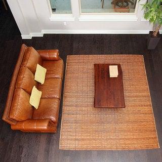 Bali Chestnut 8X10 Woven Natural Bamboo & Rattan Area Rug - 8' x 10'