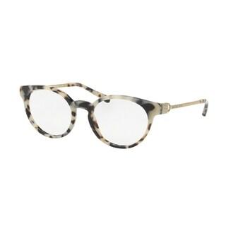 Michael Kors Women MK4048F 3294 Cream Tortoise Round Plastic Eyeglasses