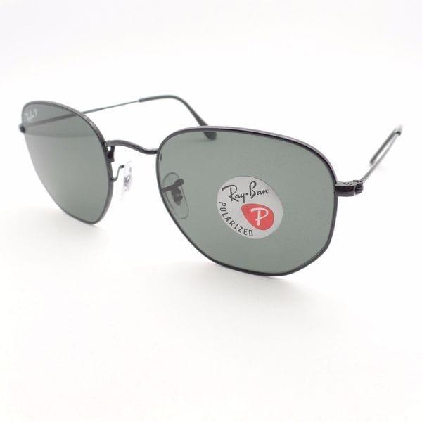 170d88492d7bd ... denmark ray ban hexagonal polarized rb3548 unisex black frame green  classic g 15 lenses sunglasses 037c7