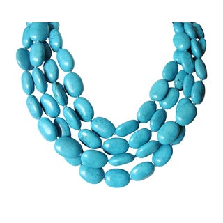 """4 Strand Chinese Turquoise Necklace-17"""""""