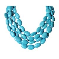 4 Strand Chinese Turquoise Necklace-17""