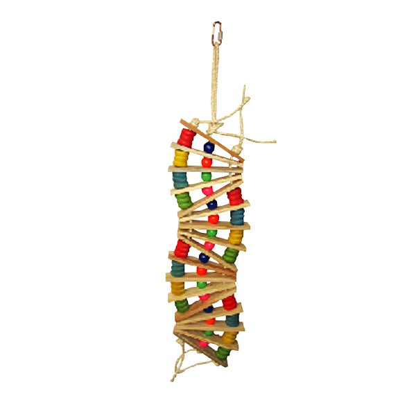 """A&E Cage Hanging Ladder Bird Toy (multi-colored, 26""""x6""""),..."""