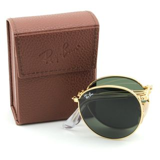 Ray Ban Round Folding RB3532 Unisex Gold Frame Sunglasses