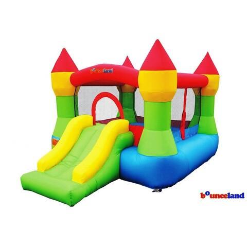 Bounceland Bounce House - Castle Bounce N' Slide w/hoop