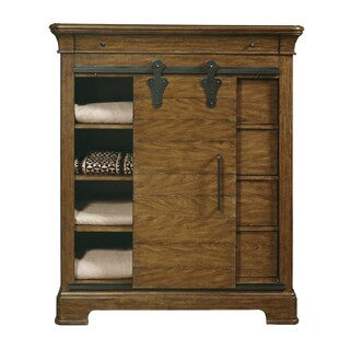 American Attitude Natural Oak Sliding Door Chest
