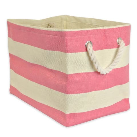 DII Striped Decorative Storage Bin