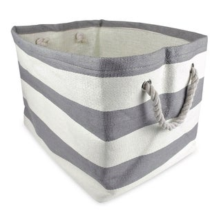 DII Striped Decorative Storage Bin
