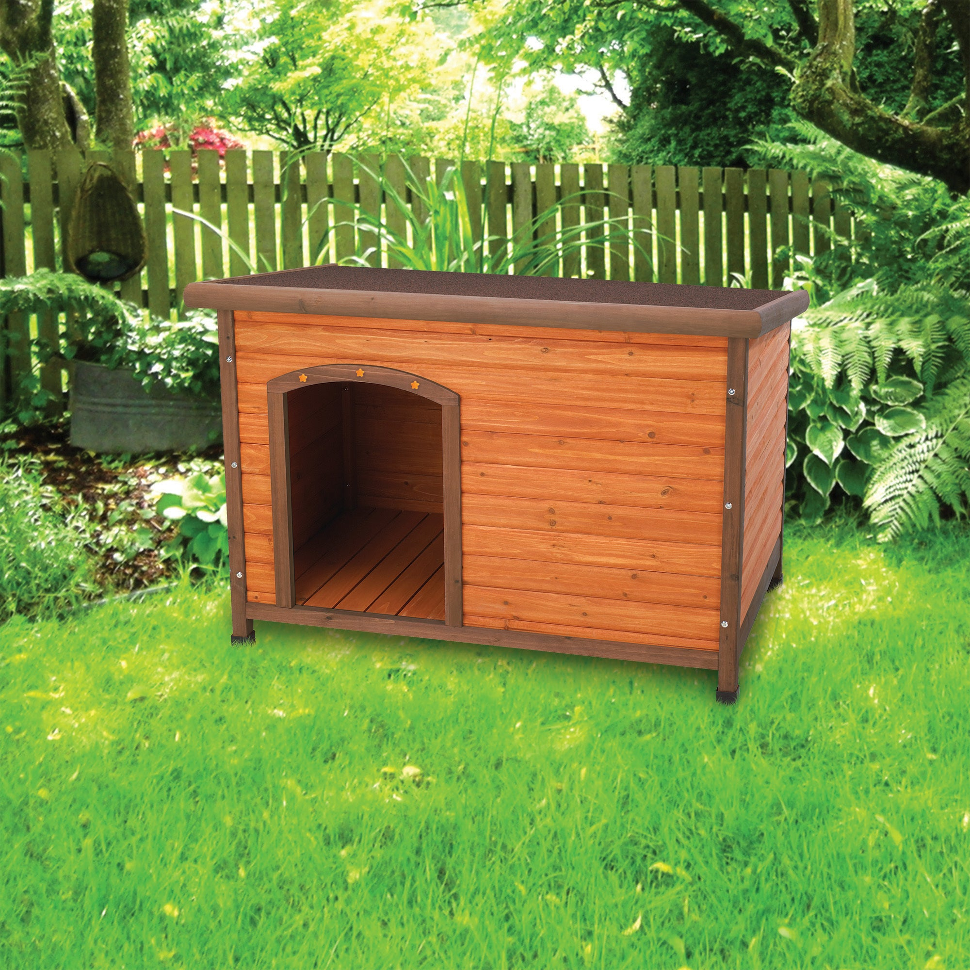 Ware Premium+ Large Doghouse (Large), Brown