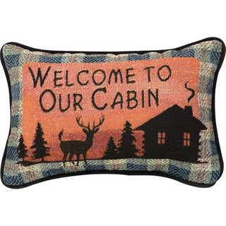 Manual Woodworkers Bear Lodge Multicolor Decorative Throw Pillow