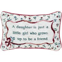 Manual Woodworkers Daughter Decorative Throw Pillow